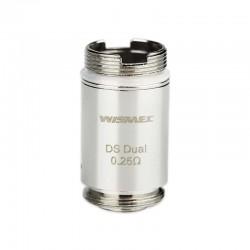 Wismec COIL DS DUAL 0.25 ohm per ORMA Atomizer (5 Pezzi)