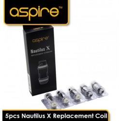 COIL ASPIRE NAUTILUS X - 1,8 OHM 5 PIECES